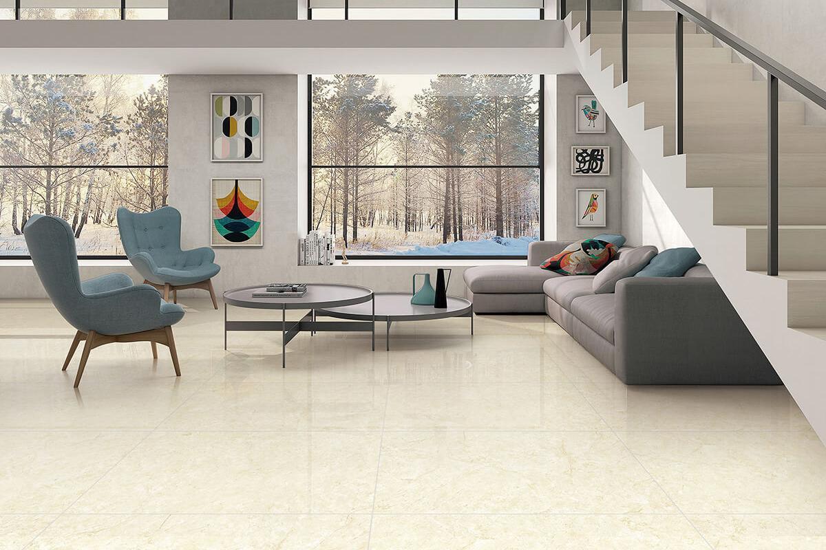 Golden Beige Marble Tile Porcelain Imitation Marble Tile Gani Tile