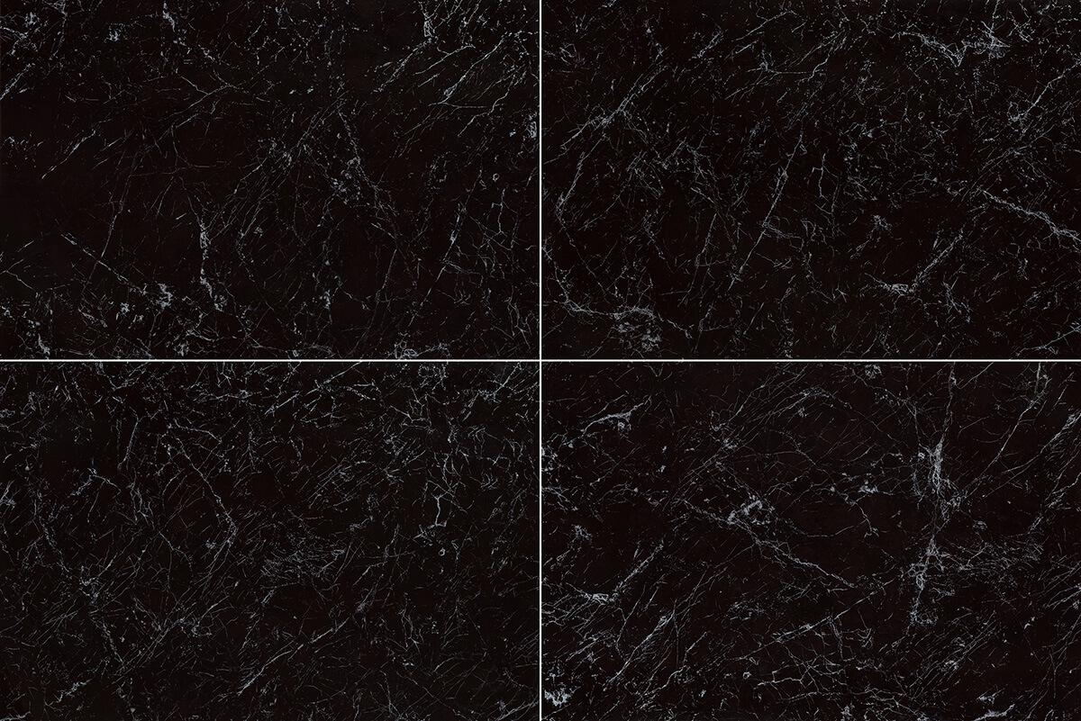 Jet Black Marble Tile Ceramic Imitation Marble Tile