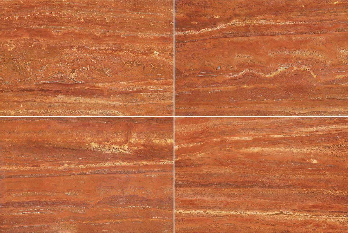 Travertino Rosso Persiano Marble Tile Ceramic Imitation