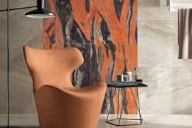 Butterfly Red Marble Tile