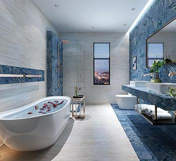 Blue Marble Tile Collection